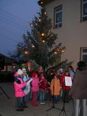 Fotogalerie: Zpívání u vánočního stromu v Nenkovicích